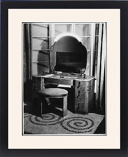 Framed Print Of Art Deco Dressing Table front-989160