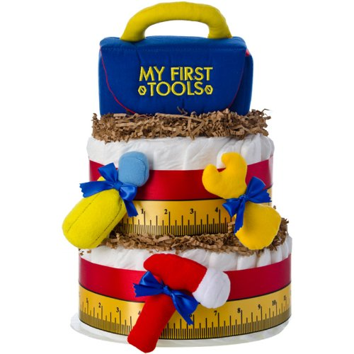 La primera caja de herramientas 2 Tier Diaper Cake