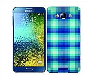 Galaxy Printed 2616 Pixel Patterns Plainblue Hard Cover for Samsung GRAND Prime