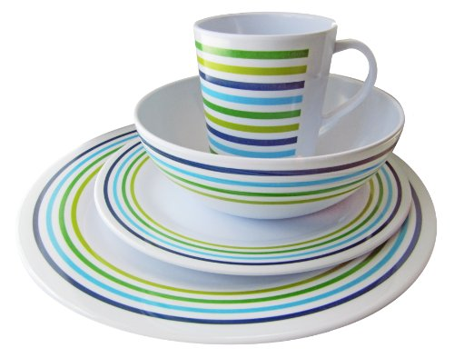 OL Pro OL205 Meadow Melamine Table Set (16 Pieces) from Olpro