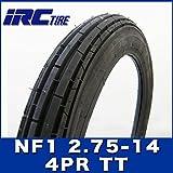 即納 IRC製 タイヤ NF1 2.75-14 4PR TT HONDA 郵政カブ YAMAHA ニュースメイト90 フロントタイヤ