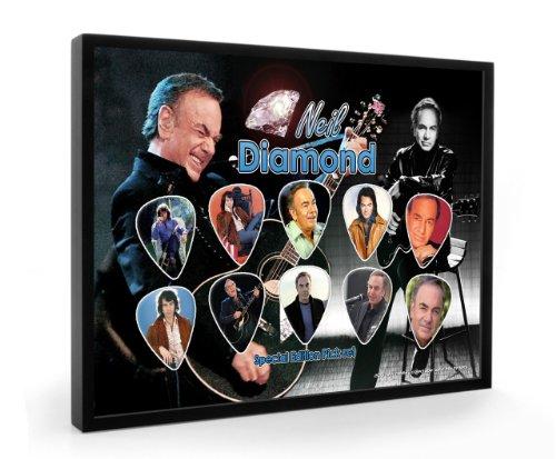 Neil Diamond Special Edition Framed Chitarra Pick Plettri Display