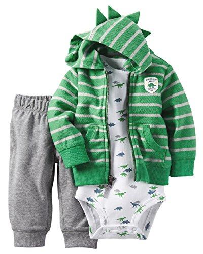 Carter's Baby Boys' 3 Piece Cardigan Set Dinosaur Expert 12M