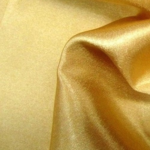 Charmeuse Bridal Satin Fabric for Wedding Dress 60 (1 YARD, Gold)