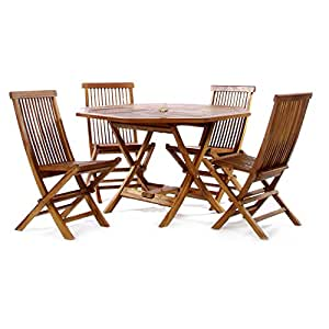 TEAK Outdoor Dining Chairs/Table Sets and Patio Furniture Octagon Table Set