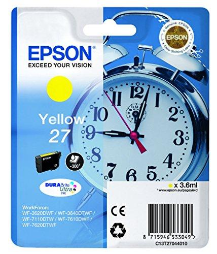 Epson T2704 Tintenpatrone Wecker, wisch- und wasserfeste Tinte (Singlepack) gelb
