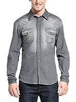Meltin Pot Camisa Hombre Carey (Gris)