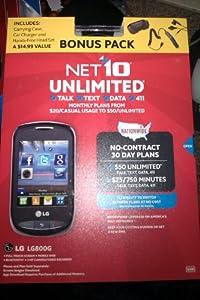 LG 800G Prepaid Phone (Net10) (Bonus Pack)