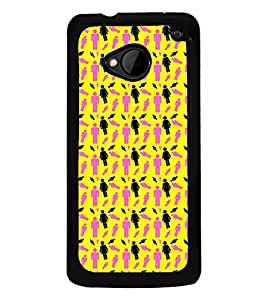 Vizagbeats Human Symbols Back Case Cover for HTC One M7