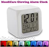 Gadget Hero's Glowing LED 7 Color Changing Digital Alarm Clock With Calendar & Temperature. MoodiCare.