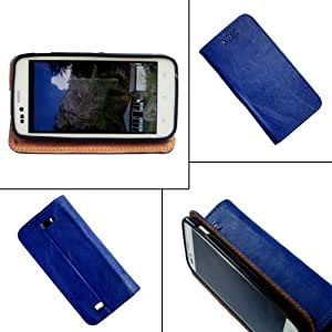 i-KitPit - PU Leather Flip Case Cover For Sony Xperia ZL (BLUE)