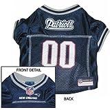 New England Patriots Dog Mesh Jersey (Medium)