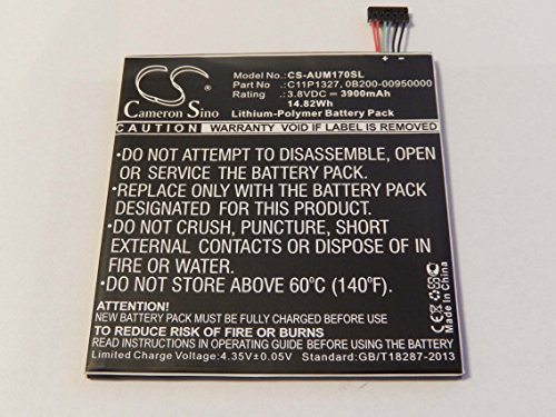 Batterie Li-Polymer 3900mAh (3.8V) vhbw pour Netbook Pad Tab Tablette Asus ME170C, MemoPad ME170c comme 0B200-00950000, C11P1327, C11-P1327.