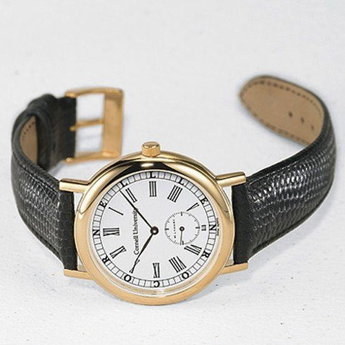 Cornell University Men's Swiss Watch - Classic with Leather Strap