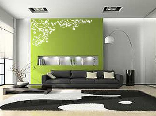 Vinyl Wall Art Decal Sticker Swirl Flower Floral Design #262
