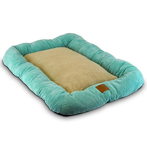 Precision Pet 1000 Snoozzy Mod Chic Low Bumper Crate Mat, 18 By 14-Inch, Buff Yellow front-1052755