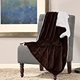 Bedsure Sherpa Blanket Throw Blankets Bed Blankets, Soft Cozy and Warm(Reversible/Textured/Fuzzy), 60