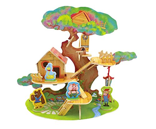 Thinkmax [Tree House]3D Wooden Puzzle-A Series Of Houses In Fairy Tale - Educational Games For Kids / 3D Puzzles For Adults front-869680