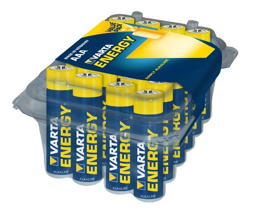 Varta 24 Batterie Ministilo Energy Clear Value Pack/Box, Blu/Giallo