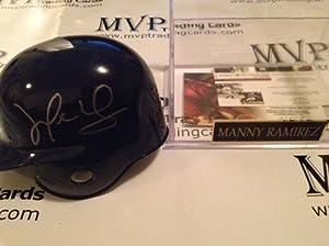 Authentic Manny Ramirez Autograph Los Angeles Dodgers Mini Helmet w  Display Case by MVP+TRADING+CARDS+COMPANY