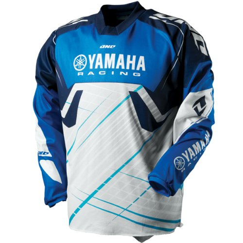 One Industries Carbon Yamaha Racing Men's Motocross Motorcycle Jersey - Blue / Large
