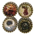 Magnet Set 04 San Francisco Golden Gate Cable Car Lapis Peridot Quartz Moss Agate 4 Stones