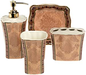 Croscill townhouse 4 piece bath accessory set for Bathroom decor on amazon