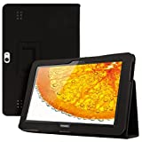 Elegant leather case for Huawei MediaPad 10 FHD in Black with convenient STAND FEATURE from kwmobile
