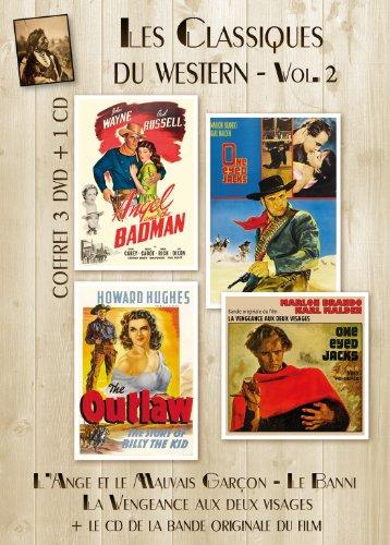 Coffret 3 DVD + 1 CD Les Classiques Du Western - VOL 2 : Le Banni (The Outlaw), L'Ange et le mauvais garçon (Angel and the Badman), La Vengeance aux deux visages (One-Eyed Jacks) + BO du film. [Edizione: Francia]