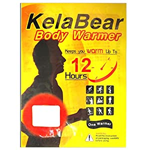 Kela Bear Large Size Body Warmer with Adhesive,heat pad heat pack up to 10-14 Hours (20 PACK)