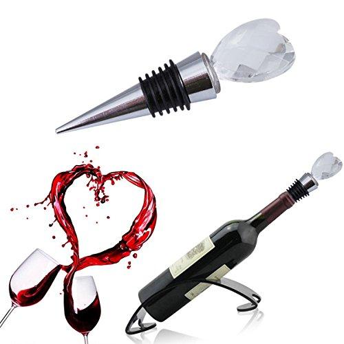Aliciashouse-2Pcs-Crystal-Red-Wine-Plug-Flasche-Stoppern-Cover-Festival-Geschenk-Herz-Hochzeit-gestalten-Wein-Stopfen