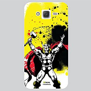 Hamee Original Marvel Character Licensed Designer Cover Slim Fit Plastic Hard Back Case for Samsung Galaxy J5 - 2016 Edition (Thor Yellow/White )