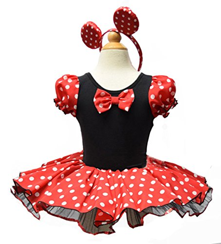 Moonight Girls Mini Mouse Costume Dress (2-3 Years(80-90cm), Minimous) (Girls Mini Mouse Costume)