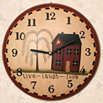 Live Laugh Love Wood Wall Clock