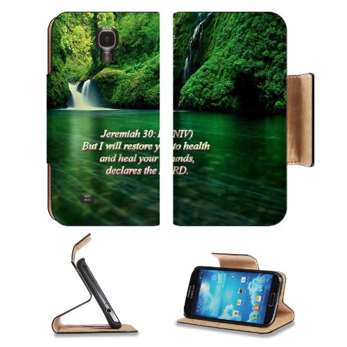 Health Heal Wounds Declaration Promises Samsung Galaxy S4 Flip Cover Case With Card Holder Customized Made To Order Support Ready Premium Deluxe Pu Leather 5 Inch (140Mm) X 3 1/4 Inch (80Mm) X 9/16 Inch (14Mm) Liil S Iv S 4 Professional Cases Accessories