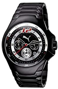 Puma Top Gear Up Chronograph Chrono Watch Black PU100191005
