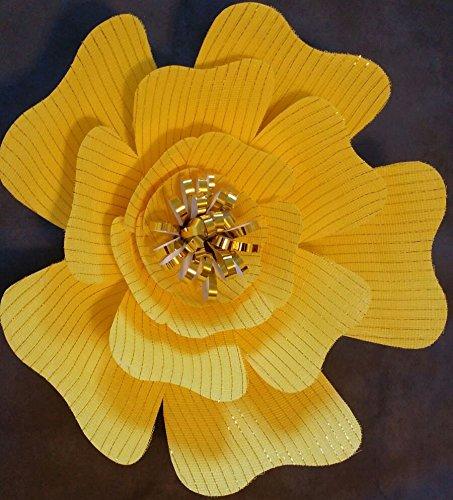 yellow-jumbo-paper-glitter-fabric-flower-18-diameter-big-bloom-rose-dyi-kit-with-21-pieces