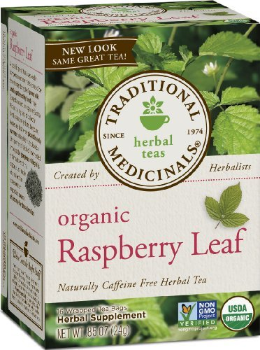 Traditional Medicinals Organic, Raspberry Leaf, 16-Count Boxes (Pack Of 6) Size: 6 Pack Home & Kitchen