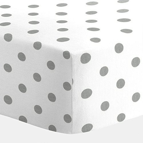 Carousel Designs White and Gray Polka Dot Crib Sheet - 1