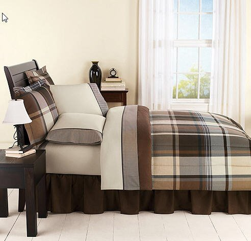 Boys Plaid Bedding 5056 front