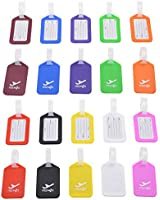 Cosmos ® Pack of 20 Different Colors Plastic Travel Square-shape Luggage Tag