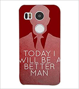 PrintDhaba Quote D-4471 Back Case Cover for LG NEXUS 5X (Multi-Coloured)