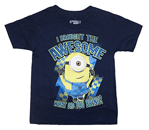 I BROUGHT THE AWESOME WHAT DID YOU BRING? Minion Little & Big Boys T-Shirt