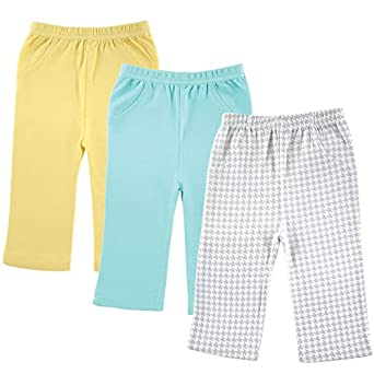 Luvable Friends 3-Pack Printed Pants, Grey Checker, 0-3 Months