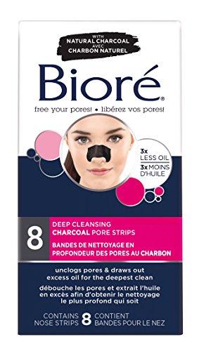 BIORE Charcoal pore strips, 8 Count