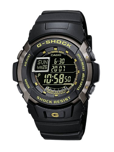 G-Shock Men's Quartz Watch with Black Dial Digital Display and Black Resin Strap G-7710-1ER