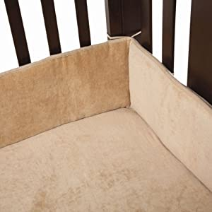 American Baby Company Organic Cotton Velour Crib Bumper, Mocha