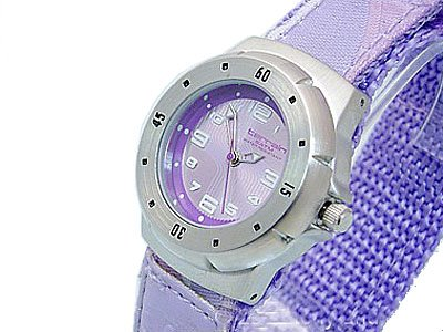 Girls/Teenagers Purple Terrain Boardrider Sports Surf Watch-Velcro Strap+Rotating Bezel-50m Water Resitant-1415