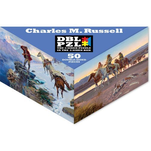 Charles M. Russell DBL PZL 50 Pc Double Sided Jigsaw Puzzle