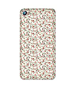 English Flowers Printed Back Cover Case For Micromax Canvas Fire 4 A107